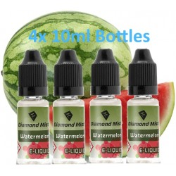4 x Watermelon E-Liquid By Diamond Mist E-Liquid 40ml
