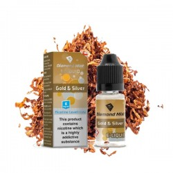 Diamond Mist Gold and Silver Tobacco E-Liquid 10ml