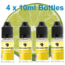 4 x Lemon E-Liquid By Diamond Mist E-Liquid 40ml