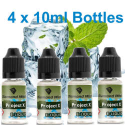 4 x Project X E-Liquid By Diamond Mist E-Liquid 40ml
