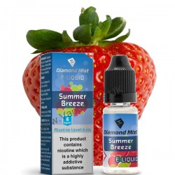 Diamond Mist Summer Breeze Strawberry and Mint E-Liquid 10ml