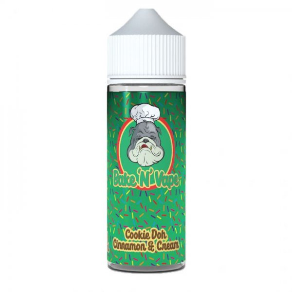 Bake and Vape Cookie Dough Cinnamon and Cream FREE NIC Shot 100ml Shortfill E Liquid | Vapour Me