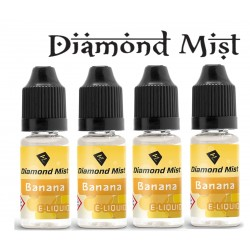 4 x Banana E Liquid By Diamond Mist E Liquid 40ml