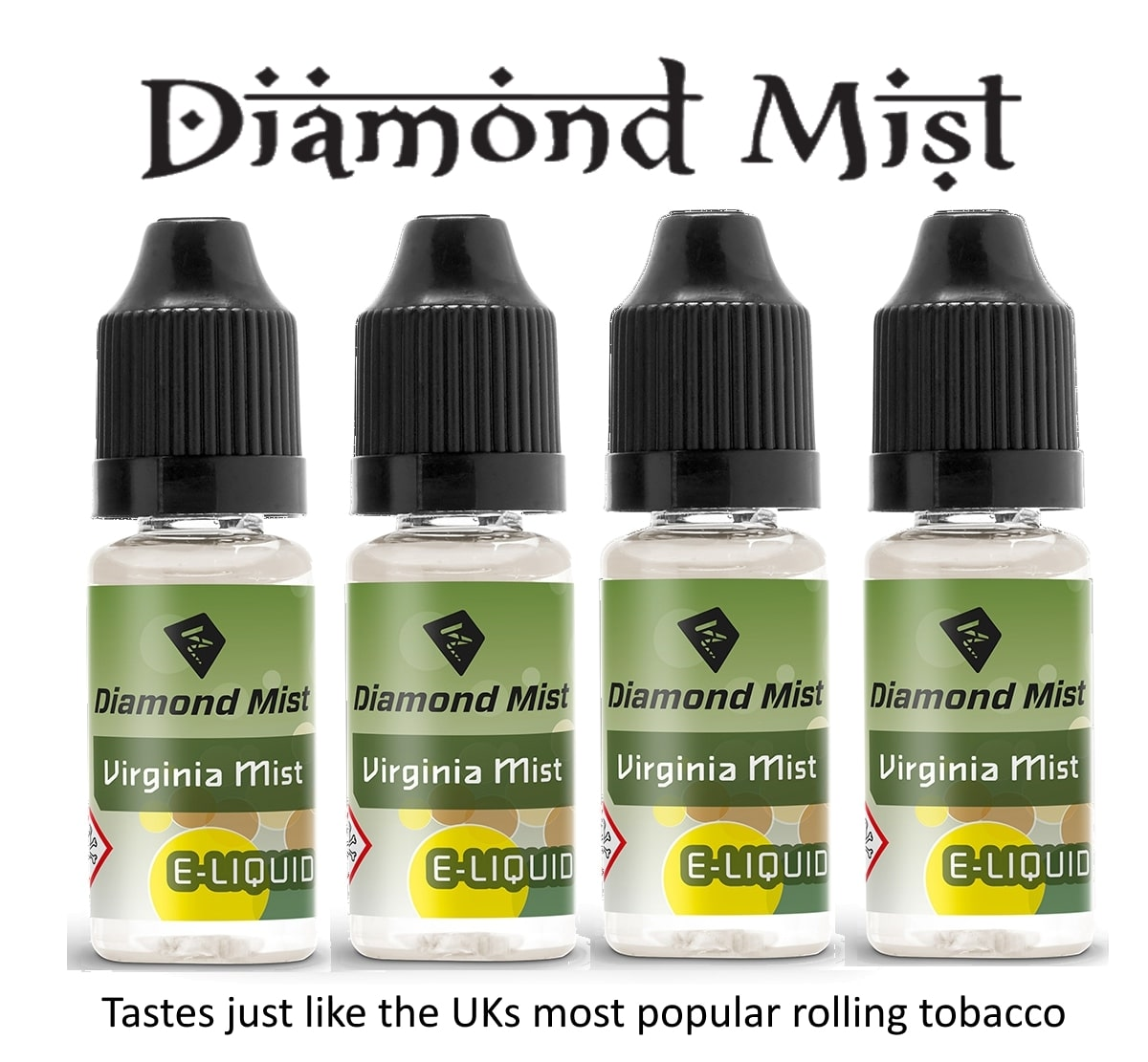 4 x Virginia Mist Tobacco E Liquid By Diamond Mist E Liquid 40ml