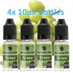 4 x Grape E Liquid By Diamond Mist E Liquid 40ml