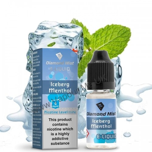 Diamond Mist Iceberg Menthol E Liquid 10ml | Vapour Me