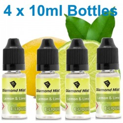 4 x Lemon & Lime E Liquid By Diamond Mist E Liquid 40ml