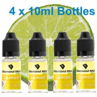 4 x Lemon E Liquid By Diamond Mist E Liquid 40ml