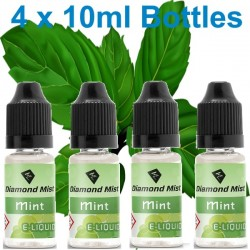 4 x Mint E Liquid By Diamond Mist E Liquid 40ml
