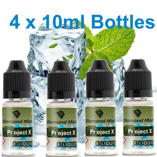 4 x Project X E Liquid By Diamond Mist E Liquid 40ml