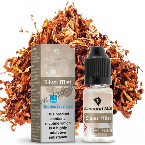 Diamond Mist Silver Mist Tobacco E Liquid 10ml | Vapour Me
