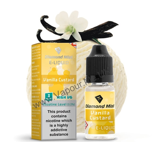 Diamond Mist Vanilla Custard E Liquid 10ml