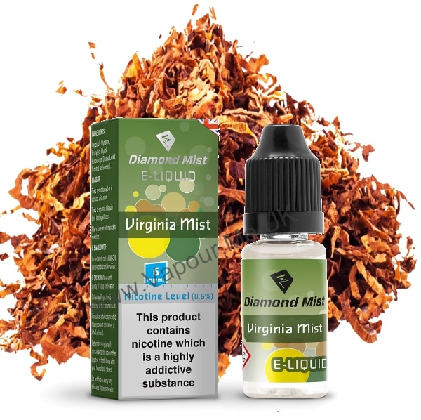 Diamond Mist Virginia Mist Tobacco E Liquid 10ml
