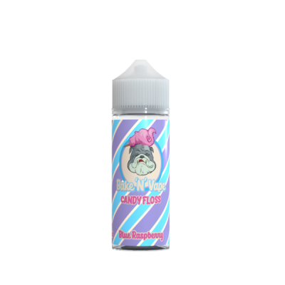 Bake N Vape Blue Raspberry Candy Floss 100ml Shortfill E Liquid