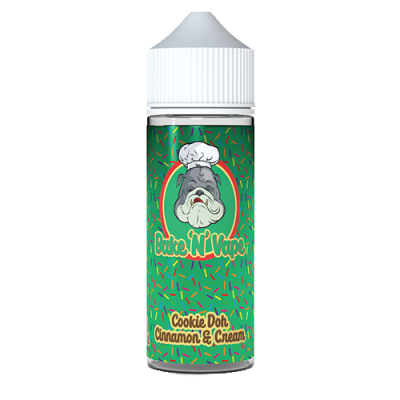 Bake 'N' Vape Cookie Dough Cinnamon and Cream 100ml Shortfill E Liquid
