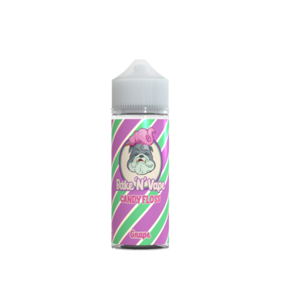 Bake N Vape Grape Candy Floss 100ml E Liquid