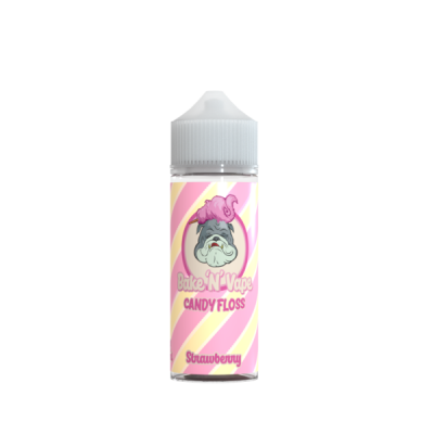 Bake N Vape Strawberry Candy Floss 100ml Shortfill E Liquid