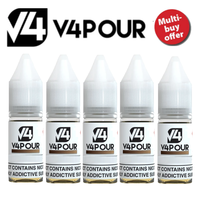 V4 V4pour E Liquid  10ml Multi Buy