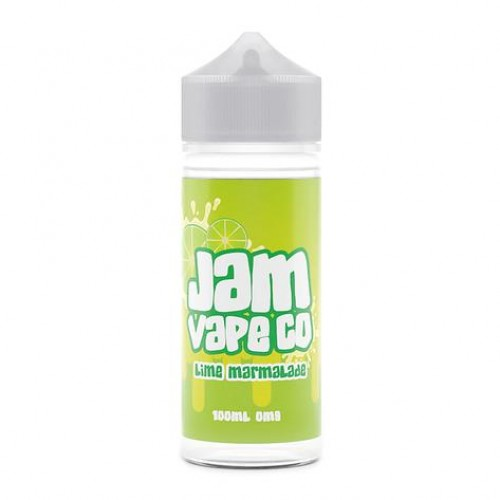 Lime Marmalade 100ml E Liquid by The Jam Vape Co Free Nic Shot | Vapour Me