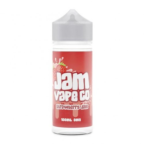 Strawberry Jam 100ml E Liquid by The Jam Vape Co Free Nic Shot | Vapour Me
