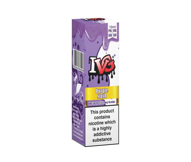 I VG 50/50 E-Liquids - PURPLE SLUSH - 10ml Single - Various Nicotine Strengths
