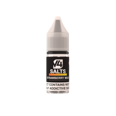 V4POUR Strawberry Milk 10ml Nicotine Salt E Liquid