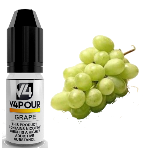 Grape E Liquid by V4 V4POUR 10ml | Vapour Me