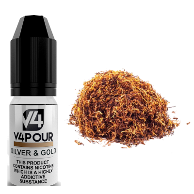 Silver & Gold E Liquid by V4 V4POUR 10ml