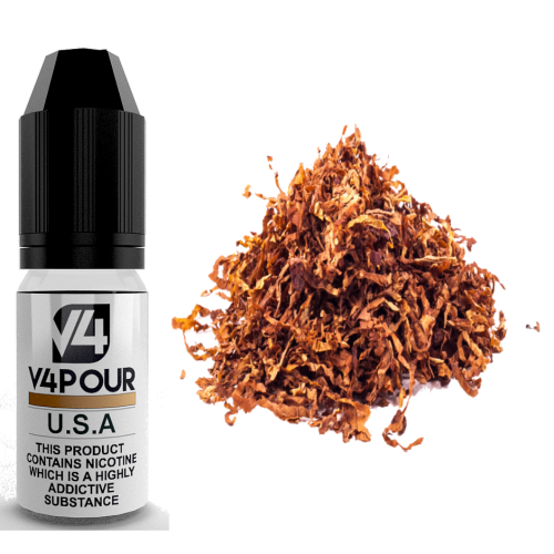 U.S.A E Liquid by V4 V4POUR 10ml | Vapour Me