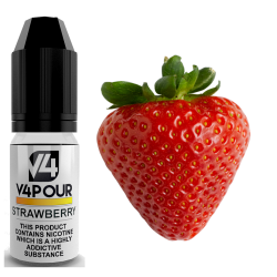 Strawberry E-Liquid by V4 V4POUR 10ml