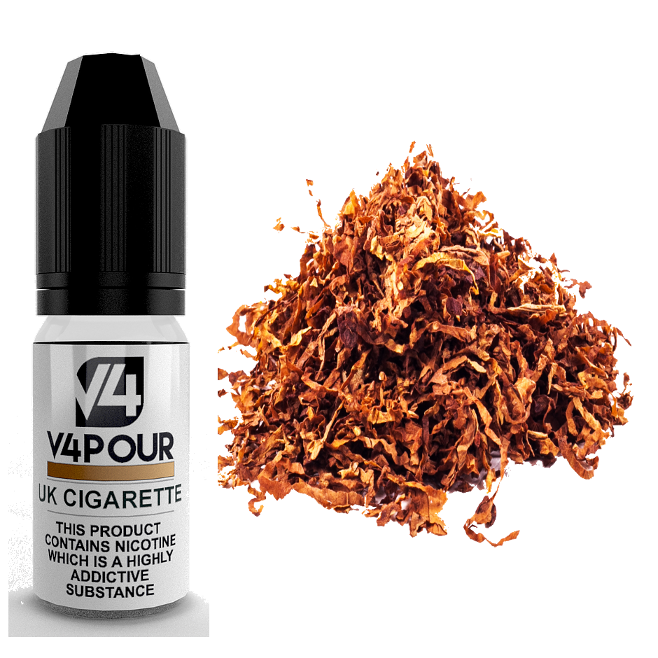 UK Cigarette E Liquid by V4 V4POUR 10ml | Vapour Me