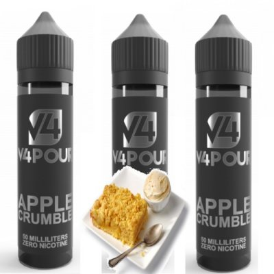 Multi Buy Apple Crumble by V4 V4POUR E Liquid | 50ml Large Bottles