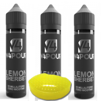 Multi Buy Lemon Sherbet by V4 V4POUR E Liquid | 50ml Large Bottles