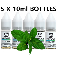 5 X 10ml Cool Mint E-Liquid by V4 V4POUR