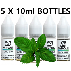 5 X 10ml Cool Mint E Liquid by V4 V4POUR
