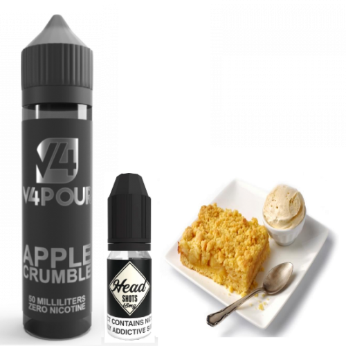 Apple Crumble by V4 V4POUR E Liquid | 50ml Short Fill | Vapour Me