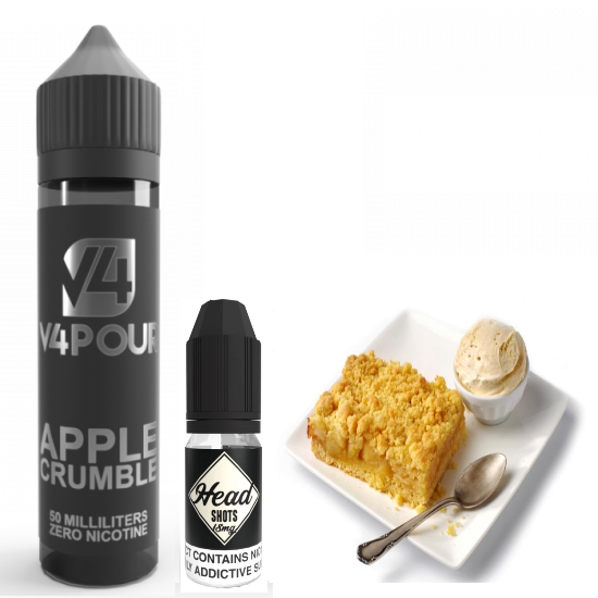 Apple Crumble by V4 V4POUR E Liquid | 50ml Short Fill