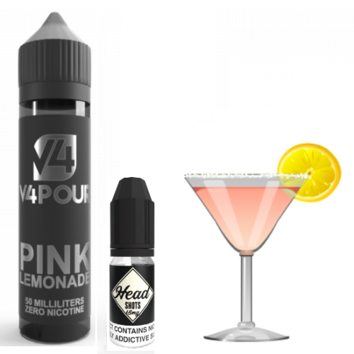 Pink Lemonade by V4 V4POUR E Liquid | 50ml Short Fill | Vapour Me