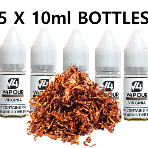 5 X 10ml Virginia E Liquid by V4 V4POUR | Vapour Me