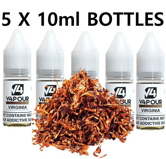 5 X 10ml Virginia E Liquid by V4 V4POUR